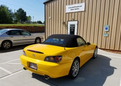 Restored Honda S2000 convertible top